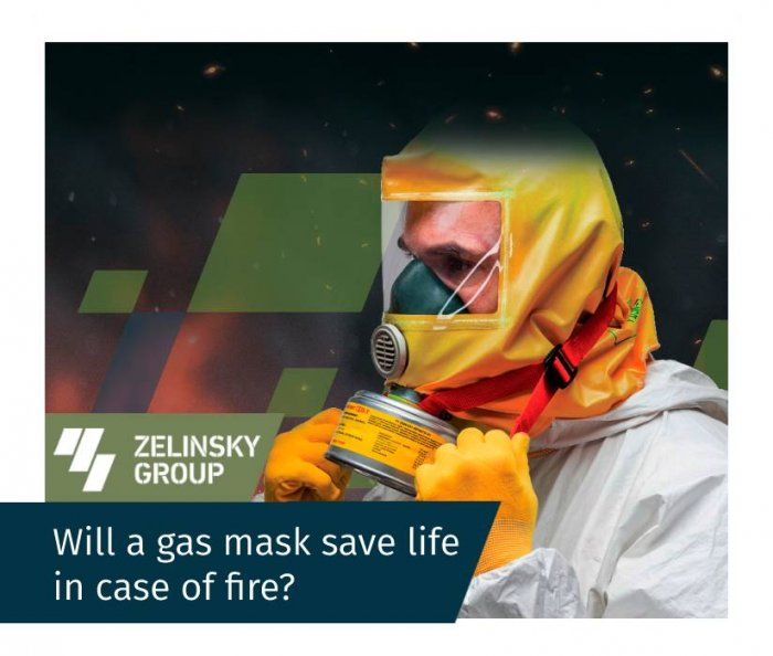 Will a gas mask save life in case of fire?