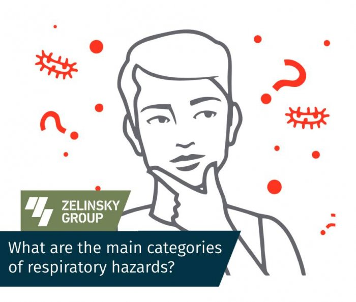 What are the main categories of respiratory hazards?