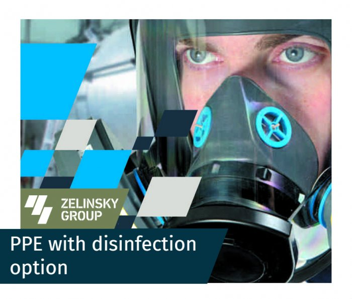 Full face and half face respirators with disinfection option